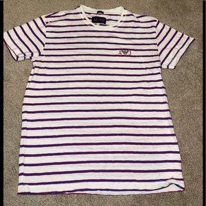 Armani jeans pin stripe T-shirt !